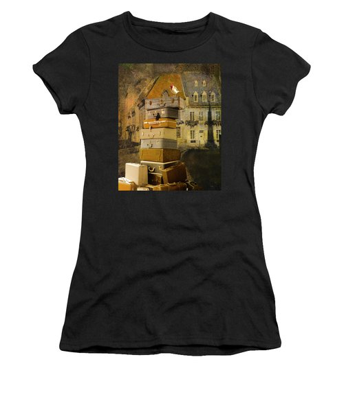 Leaving Quebec Women's T-Shirt (Junior Cut) by Jeff Burgess