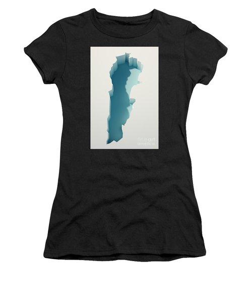 Lebanon Simple Intrusion Map 3d Render Women's T-Shirt
