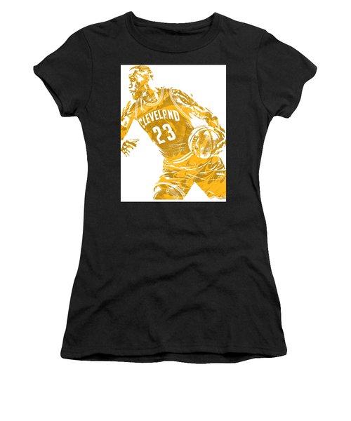Lebron James Cleveland Cavaliers Pixel Art 20 Women's T-Shirt