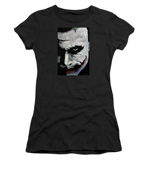 Ledger's Joker Women's T-Shirt (Junior Cut) by Dale Loos Jr