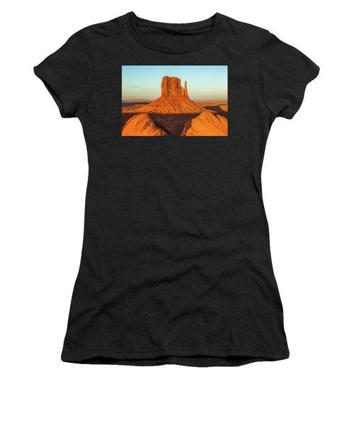 Left Mitten Sunset - Monument Valley Women's T-Shirt