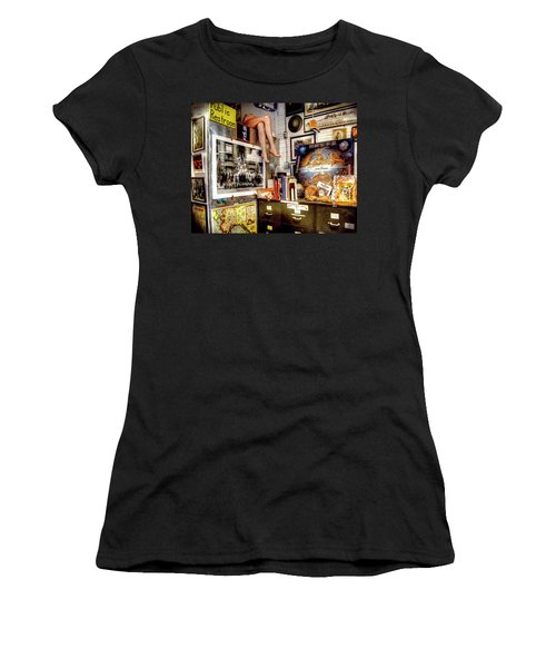 Legs In The Back Of The Shop Women's T-Shirt (Junior Cut) by Greg Sigrist