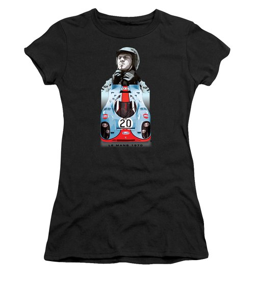 Lemans Racing Women's T-Shirt (Athletic Fit)