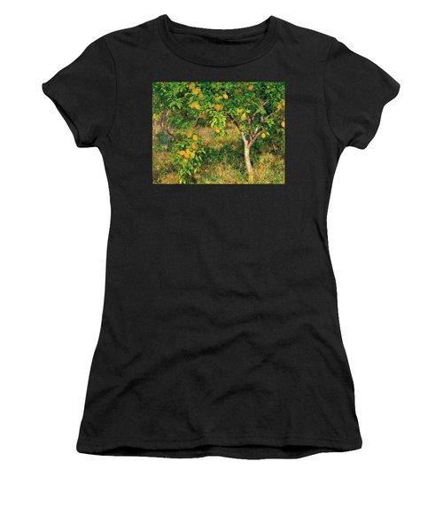Women's T-Shirt (Junior Cut) featuring the painting Lemon Tree by Henry Scott Tuke