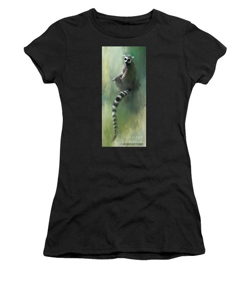 Lemur Catching Rays Women's T-Shirt (Athletic Fit)