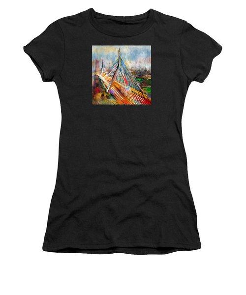 Leonard P. Zakim Bunker Hill Memorial Bridge 219 1 Women's T-Shirt (Athletic Fit)