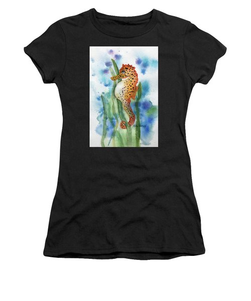 Leopard Seahorse Women's T-Shirt