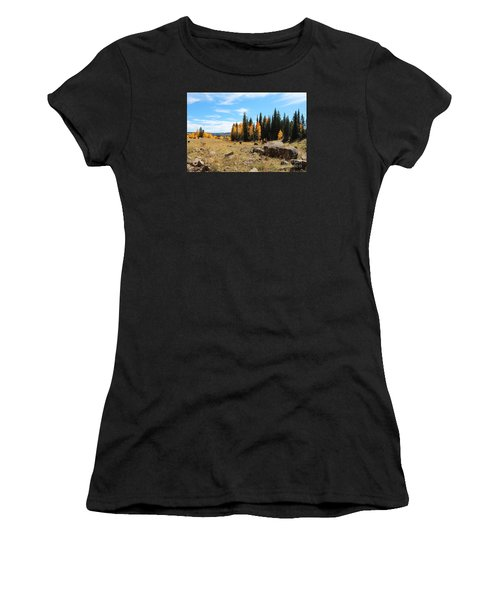 Leroux Creek Fall In Colorado Women's T-Shirt (Athletic Fit)