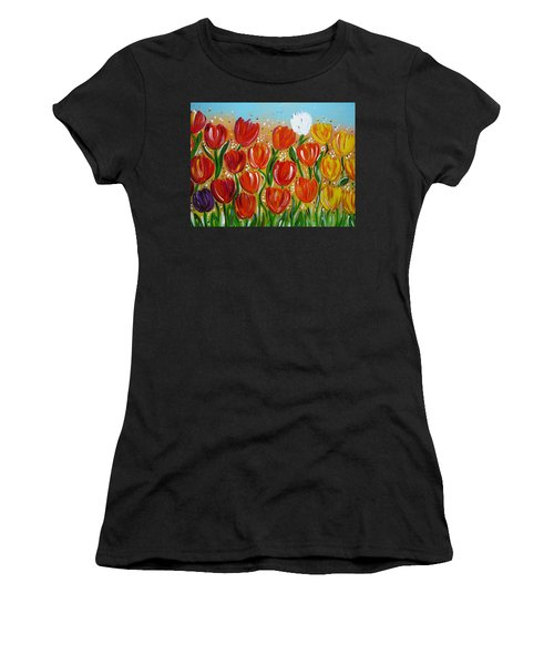 Les Tulipes - The Tulips Women's T-Shirt (Athletic Fit)