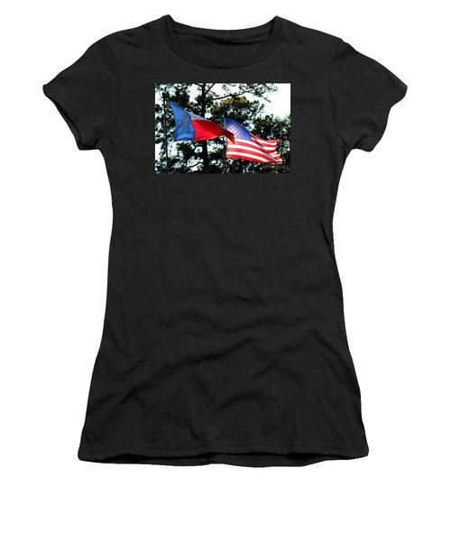 Women's T-Shirt (Junior Cut) featuring the photograph Let Freedom Ring by Kathy  White