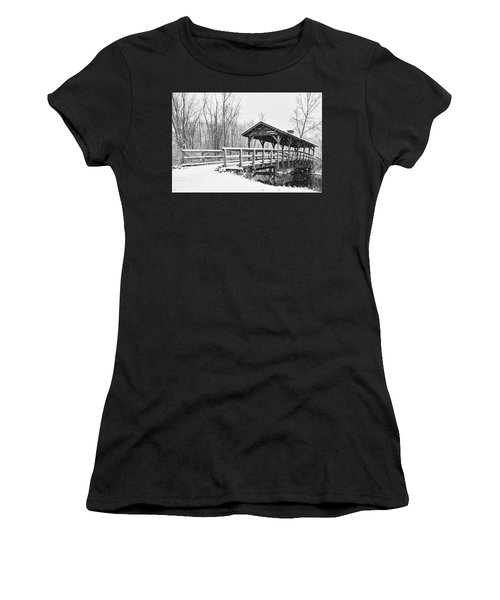 Women's T-Shirt featuring the photograph Let It Snow by Heather Kenward