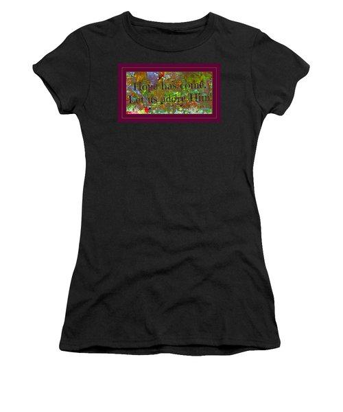 Let Us Adore Him Women's T-Shirt (Athletic Fit)