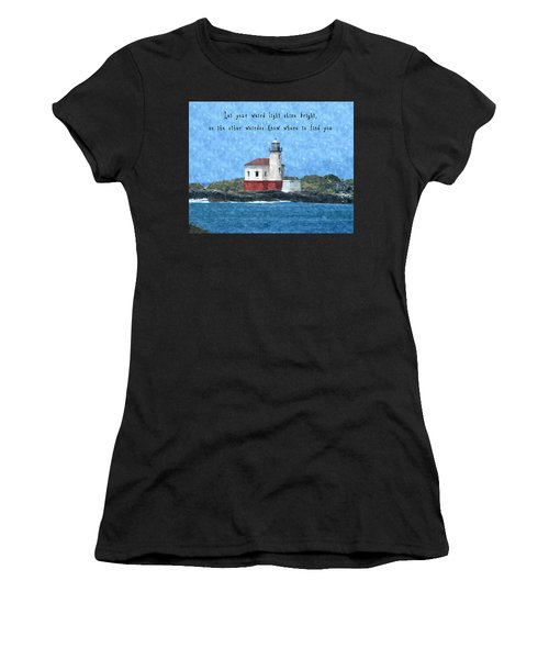 Let Your Weird Light Shine Bright Women's T-Shirt (Athletic Fit)