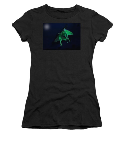 Women's T-Shirt (Junior Cut) featuring the photograph Let's Swim To The Moon by Susan Capuano