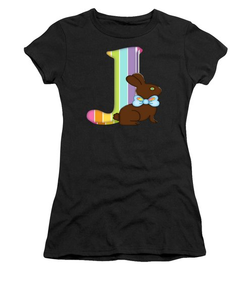 Letter A Chocolate Easter Bunny Women's T-Shirt
