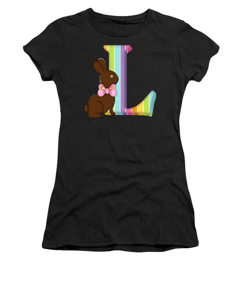 Letter L Chocolate Easter Bunny Women's T-Shirt