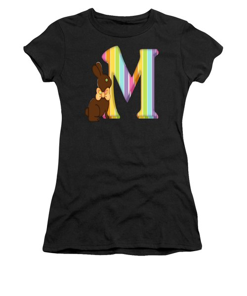Letter M Chocolate Easter Bunny Women's T-Shirt