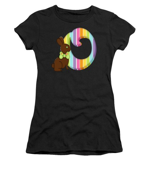 Letter O Chocolate Easter Bunny Women's T-Shirt