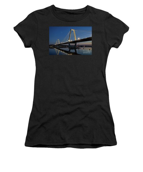 Women's T-Shirt (Junior Cut) featuring the photograph Lewis And Clark Bridge - D009999 by Daniel Dempster