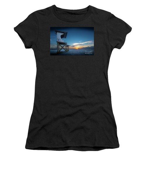 Women's T-Shirt (Junior Cut) featuring the photograph Lifeguard by Brian Jones