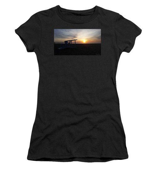 Lifeguard Stand And Sunrise Women's T-Shirt