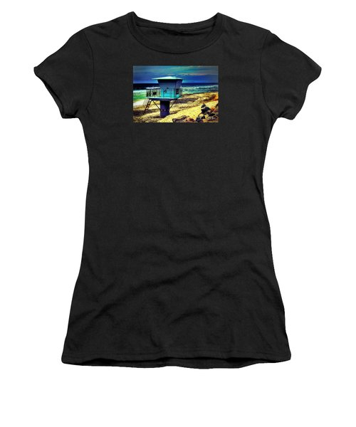 Lifeguard Tower 4 - Del Mar Women's T-Shirt