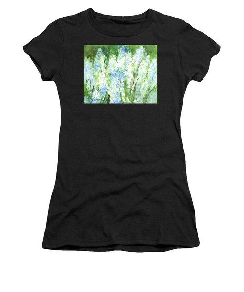 Light Blue Grape Hyacinth. Women's T-Shirt