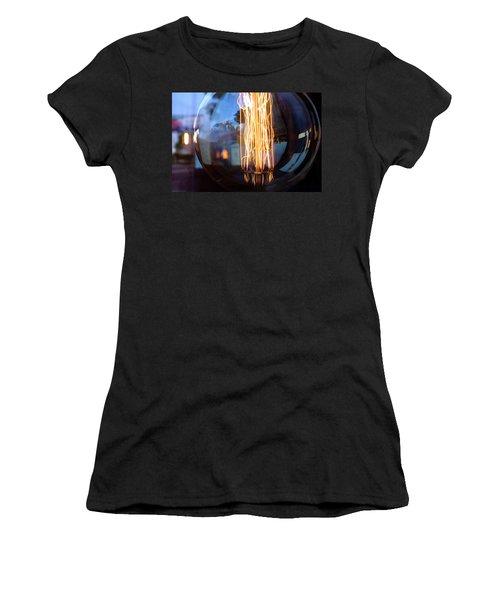 Light Elements Bulb In Detroit Michigan Women's T-Shirt