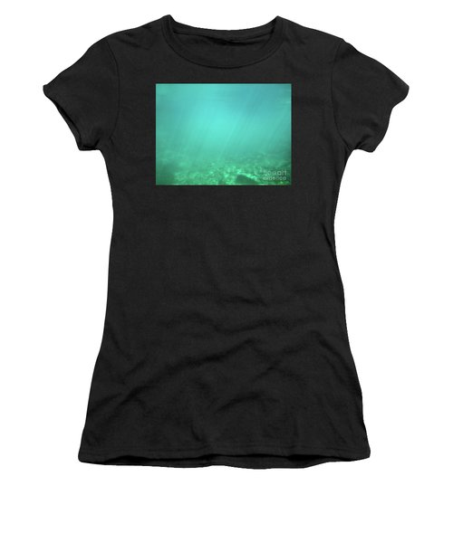 Women's T-Shirt (Athletic Fit) featuring the photograph Light In The Water by Francesca Mackenney