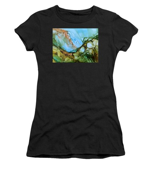 Women's T-Shirt (Junior Cut) featuring the painting Light My Fire by Pat Purdy