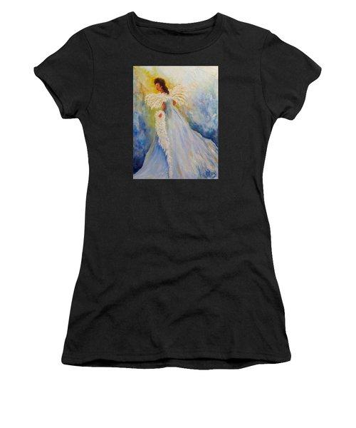 Light Of Grace,angel Women's T-Shirt (Athletic Fit)