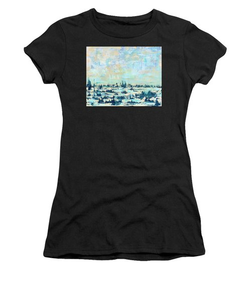 Women's T-Shirt featuring the painting Light Over Broad Creek by Kathryn Riley Parker