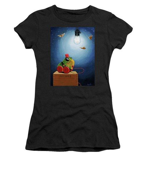 Light Snacks Original Whimsical Still Life Women's T-Shirt (Athletic Fit)