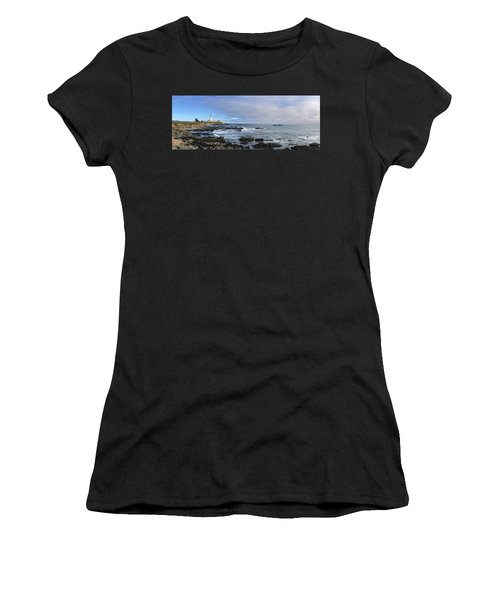 Lighthouse And Coastview Women's T-Shirt (Athletic Fit)