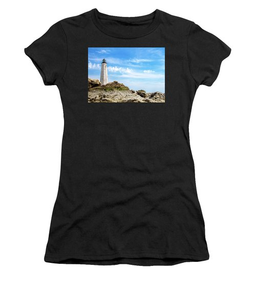Lighthouse And Rocks Women's T-Shirt (Athletic Fit)