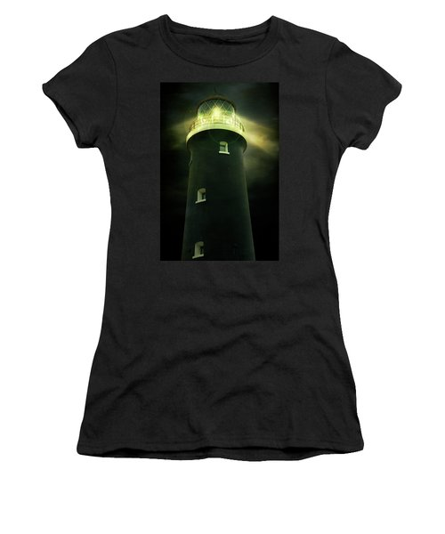 Lighthouse At Night Women's T-Shirt (Athletic Fit)