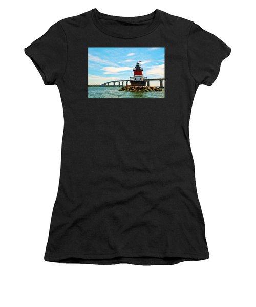 Lighthouse On A Small Island Women's T-Shirt