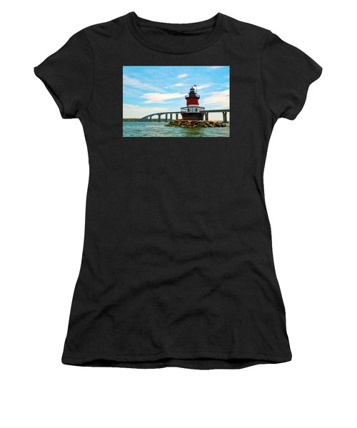 Lighthouse On A Small Island Women's T-Shirt