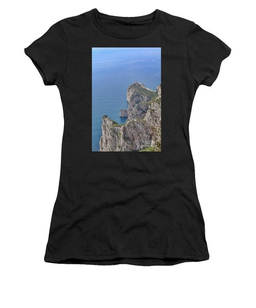 Lighthouse On The Cliff Women's T-Shirt