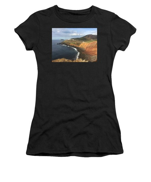 Lighthouse On The Coast Of Terceira Women's T-Shirt