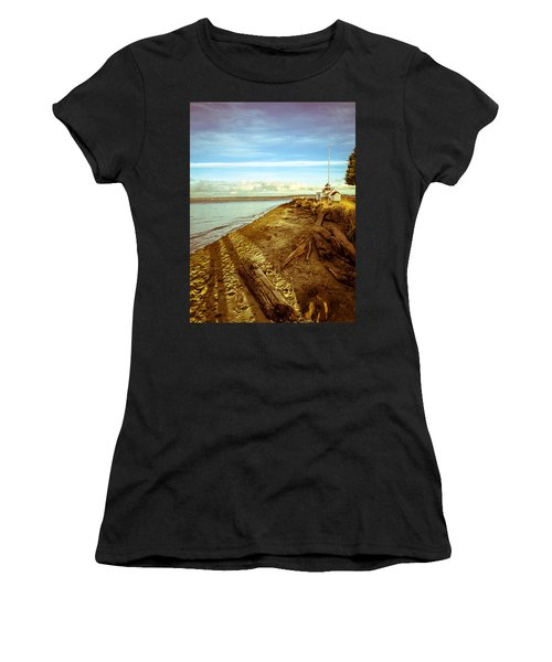 Lighthouse, Point No Point Women's T-Shirt (Athletic Fit)