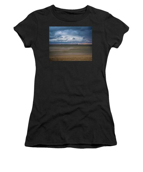 Lighthouse Under Brewing Clouds Women's T-Shirt