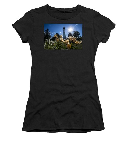 Lighthouse With A Flowery Foreground Women's T-Shirt