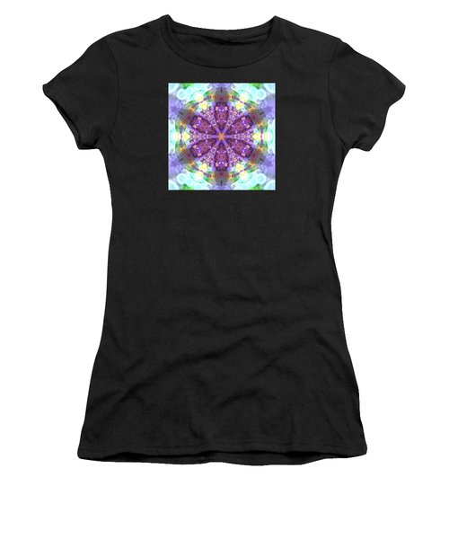 Women's T-Shirt featuring the digital art Lightmandala 6 Star 2 by Robert Thalmeier