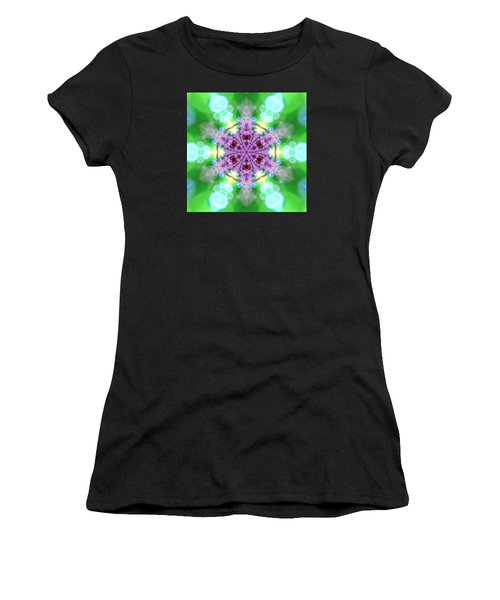 Women's T-Shirt featuring the digital art Lightmandala 6 Star 3 by Robert Thalmeier