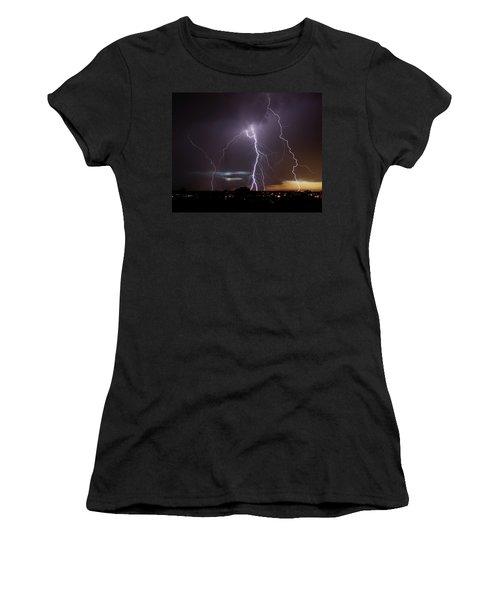 Lightning At Dusk Women's T-Shirt