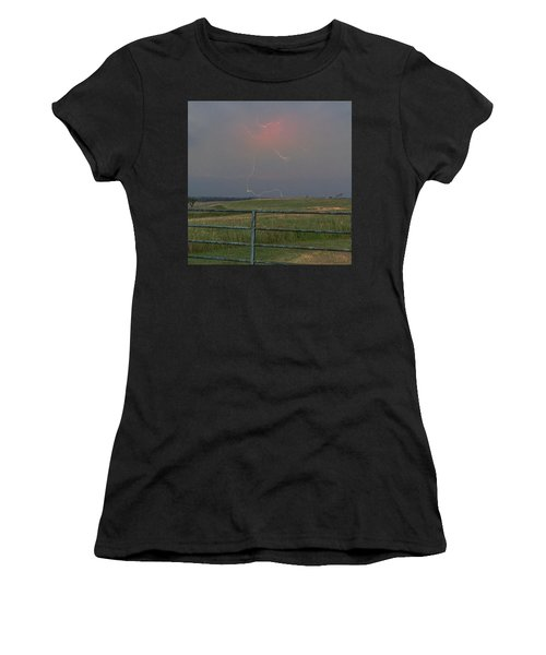 Lightning Bolt On A Scenic Route Women's T-Shirt (Athletic Fit)