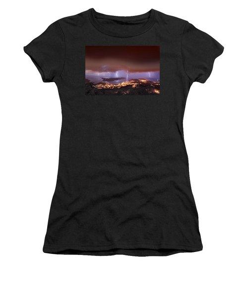 Lightning Over Water Island Women's T-Shirt