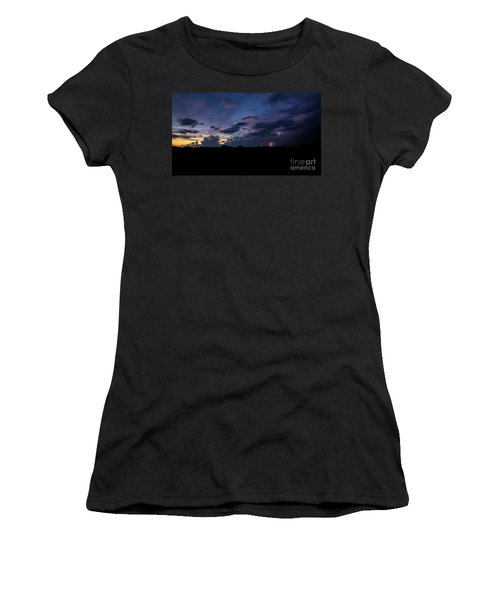 Lightning Sunset Women's T-Shirt (Athletic Fit)