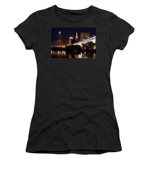 Lights In Cleveland Ohio Women's T-Shirt